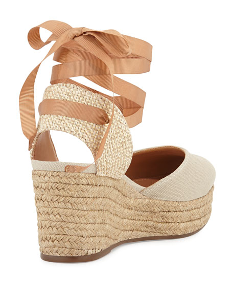 Caysey Jute/Canvas Espadrille Wedge, Natural