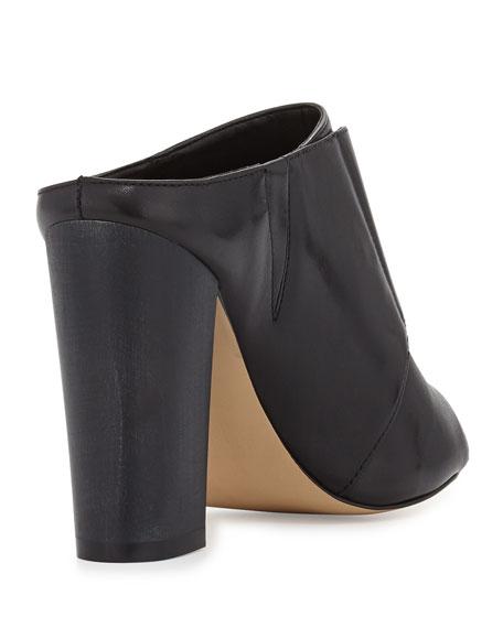 Evie Glove Leather Mule, Black