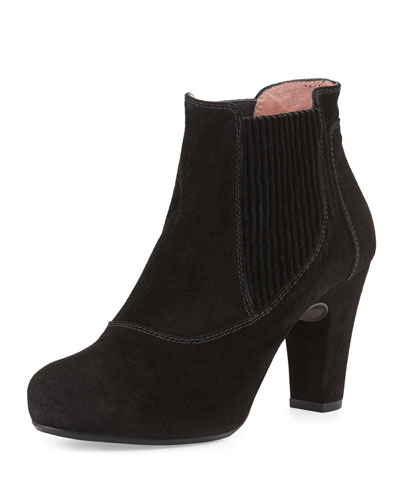 Andre Assous Gizmo Suede Ankle Boot, Black