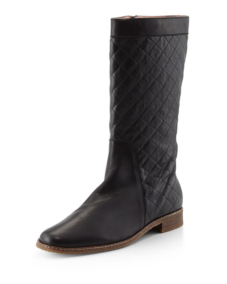 Andr� Assous Gail Quilted Leather Boot, Black