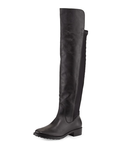 Stagecoach Leather Over-the-Knee Boot, Black