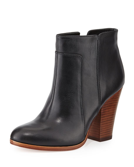 Pour la Victoire Rocker Casual Leather Bootie, Black