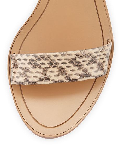 Dagney Double-Wrap City Sandal, Nude
