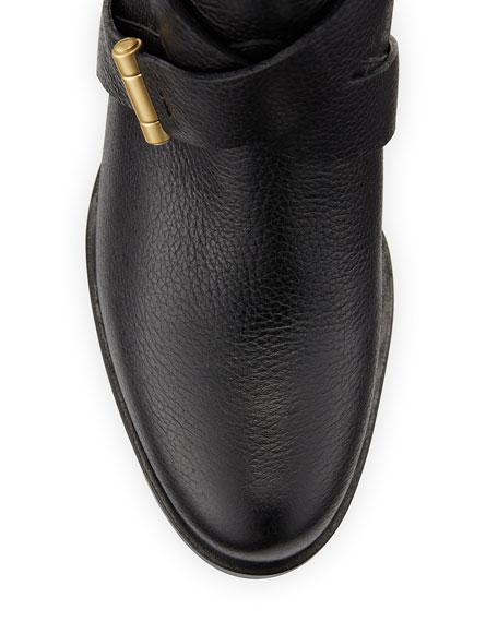 Leona Leather Mid-Calf Boot, Black