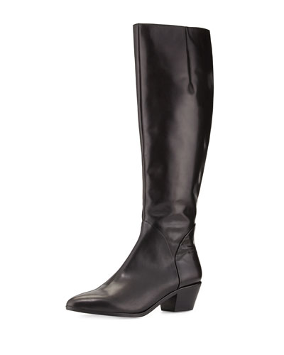 Hughla Pointy-Toe Casual Boot, Nero