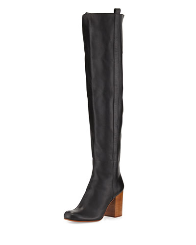 Kylar Leather Over-the-Knee Boot