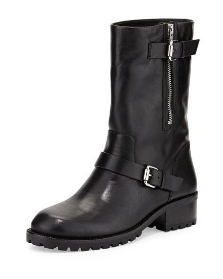 VC Signature Riona Leather Moto Boot, Black