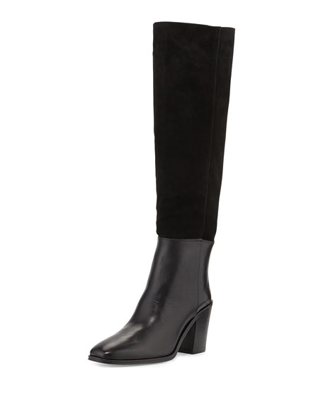 VC Signature Sukey Suede Shaft Knee Boot, Nero