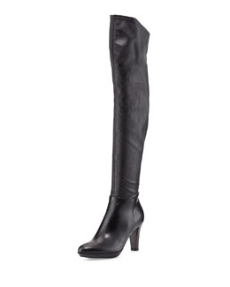 Aquatalia Rita Stretch Over-the-Knee Boot, Black