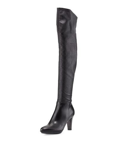 Aquatalia Rita Stretch Over-the-Knee Boot, Black