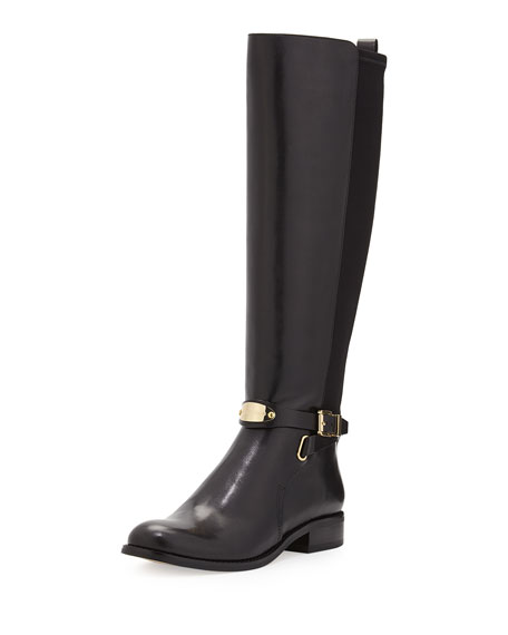 MICHAEL Michael Kors Arley Stretch Leather Knee Boot,