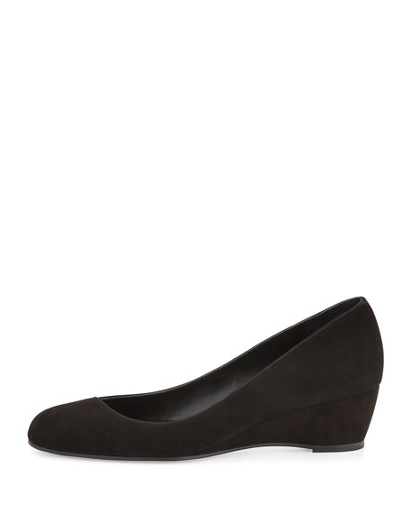 Doll Crossover Demi-Wedge Pump, Black