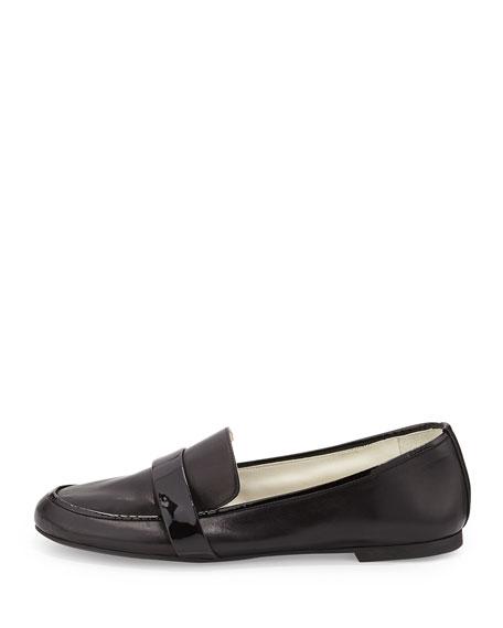 Elda Napa Leather Loafer, Black