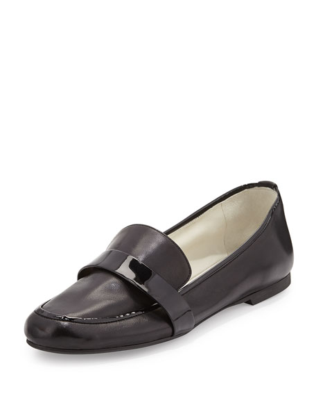 Elda Napa Leather Loafer, Black