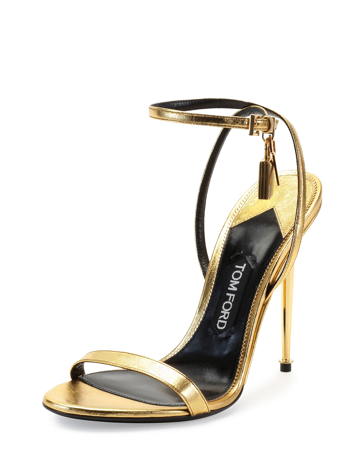 6465625d0c61 TOM FORD Metallic Ankle-Lock Sandals