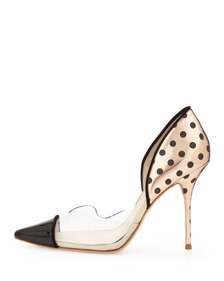 Jessica Dotted Mixed-Media Pump