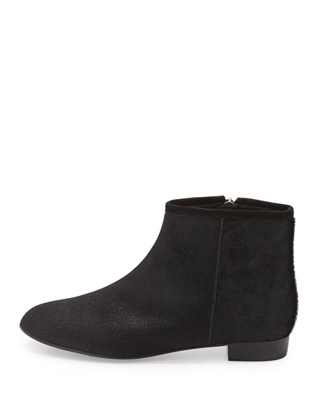 Mason Calf Hair Ankle Bootie, Black