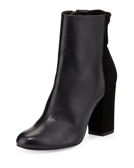 Nyla Leather Ankle Boot, Black