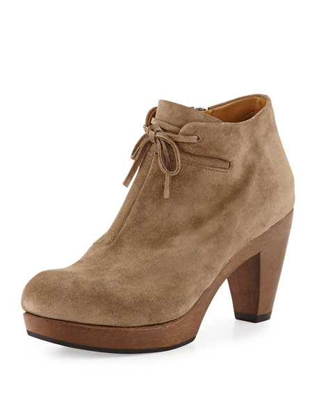 Nanette Suede Ankle Boot, Country Flint