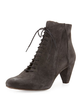 Coclico Sabine Suede Ankle Boot, Ante Carbon