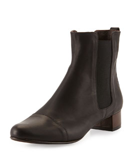 Coclico Sandrine Leather Ankle Boot, Ringo Black