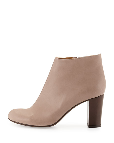 Birk Leather Ankle Boot, Natural Pebble