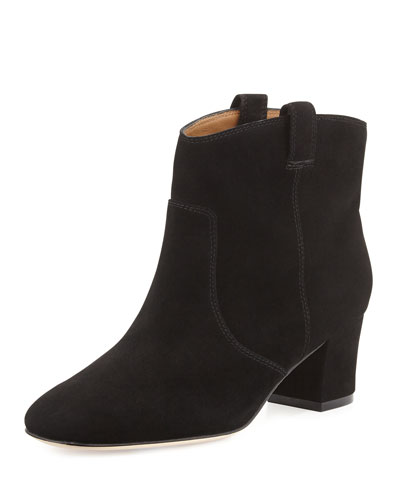 Bettye Muller Cruiser Suede Ankle Bootie, Black