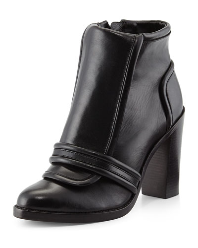 10 Crosby Derek Lam Margaret Leather Ankle Bootie, Black