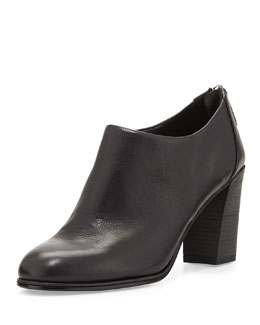 Eileen Fisher Quote Leather Ankle Bootie, Black