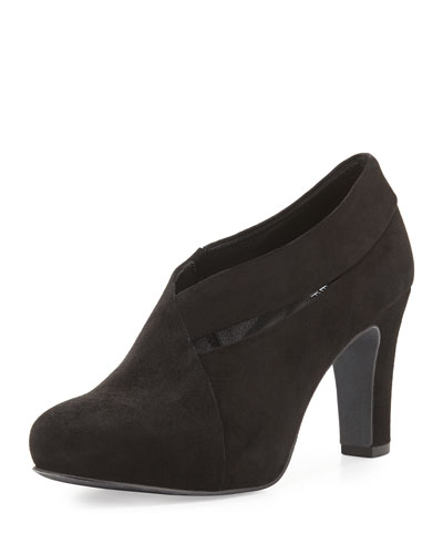 Eileen Fisher Peek Suede Bootie, Black