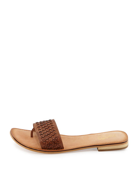 City Slicker Woven Slide Thong Sandal