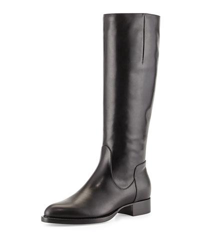 Aquatalia Gabor Leather Knee Boot, Black
