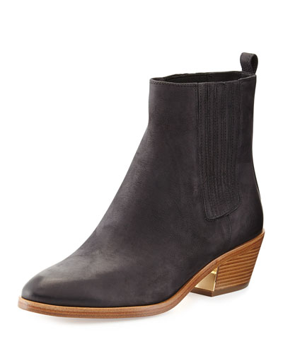 Michael Kors Patrice Distressed Leather Bootie