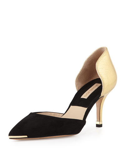 Michael Kors Scarlett d'Orsay Suede/Leather Pump