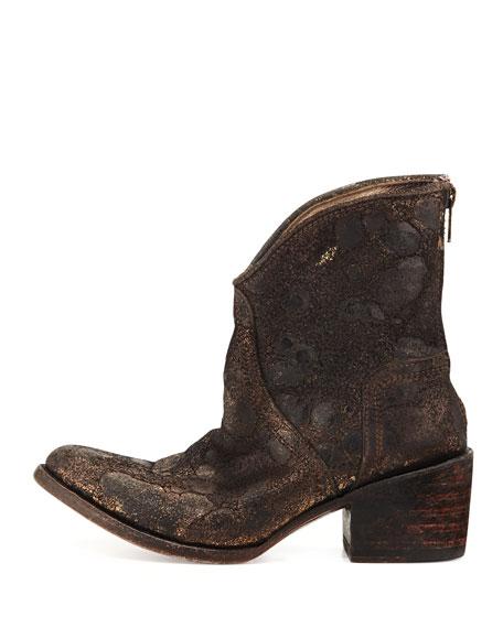 Peak Western Ankle Boot, Black Multi