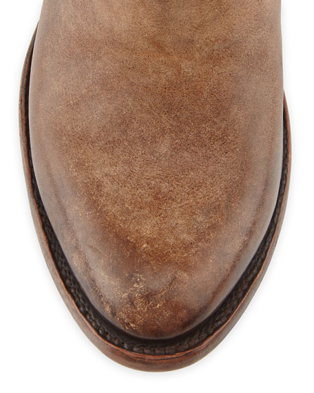 Freebird Pikes Buckle-Strap Western Boot, Natural