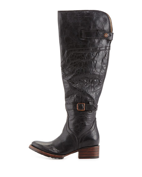 Quebec Tall Equestrian Boot, Black