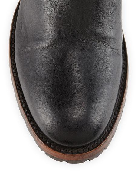Quebec Tall Equestrian Boot, Black