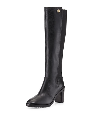 Tory Burch Sullivan Stretch-Back Knee Boot, Black