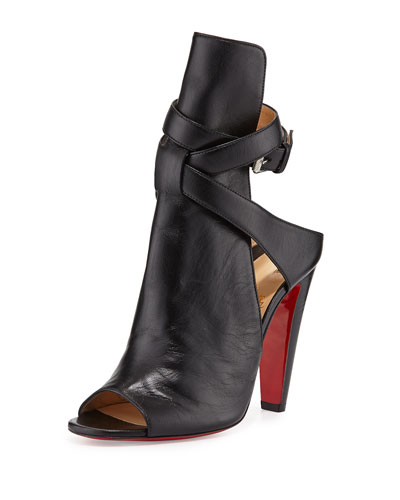 Christian Louboutin  Hippik Napa Red Sole Sandal