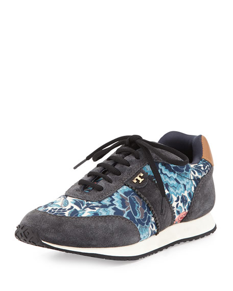 Pettee Printed Trainer, Kyoto (Charcoal/Tan)