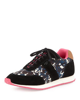 Tory Burch Pettee Printed Trainer, Nouveau (Black/Tan)