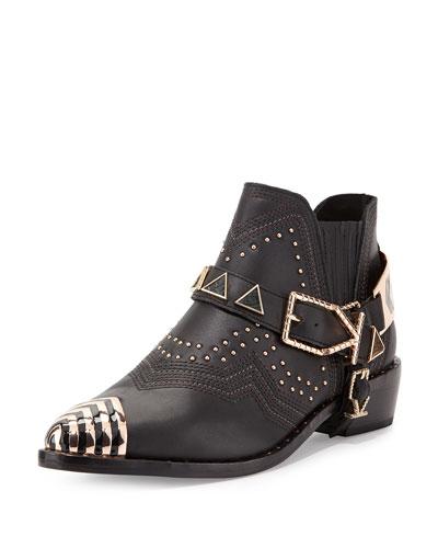 Ivy Kirzhner Santa Fe Leather Ankle Boot, Black