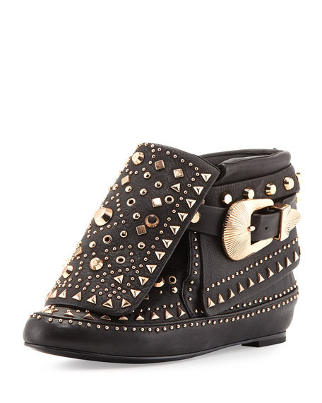 Adobee Studded Moccasin Bootie