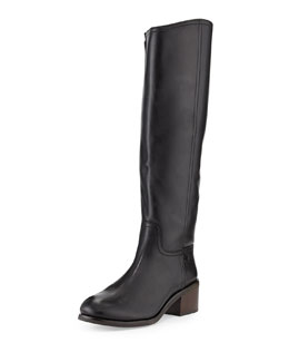 Tory Burch Fulton Knee-High Boot, Black