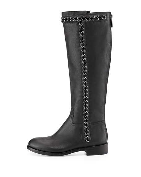 Bloomfield Chain-Detail Knee Boot