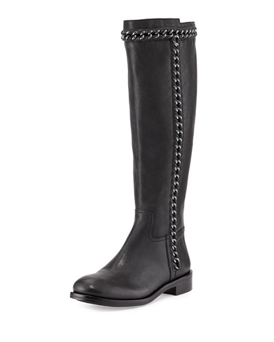 Tory Burch Bloomfield Chain-Detail Knee Boot