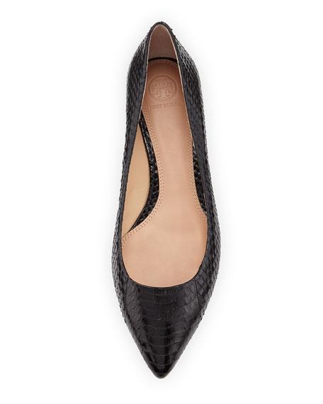 Bedford Snake Ballerina Flat, Black