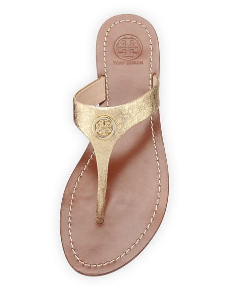 b33016ef8 Tory Burch Cameron Metallic Thong Sandal
