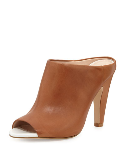 French Connection Randy Tonal Leather Mule, Tan
